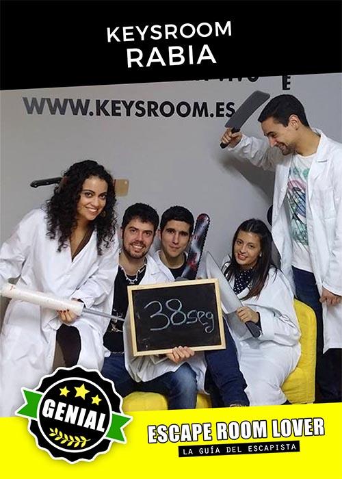 Keysroom - Rabia - Escape Room - Opiniones