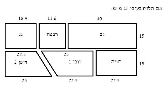 תיבת קינון - תכנית - לוח עובי 17