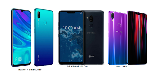 LG X5 Android One Vs Huawei P Smart 2019 Vs Vivo Z1 Lite Comparisons
