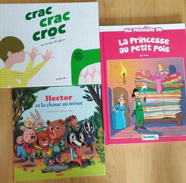 > Crac crac croc  > Hector et la chasse au trésor  > La princesse au petit pois  > Le voyage du petit manchot  > Ca bouge à la ferme  > Les véhicules en relief  > Balthazar et l'anniversaire