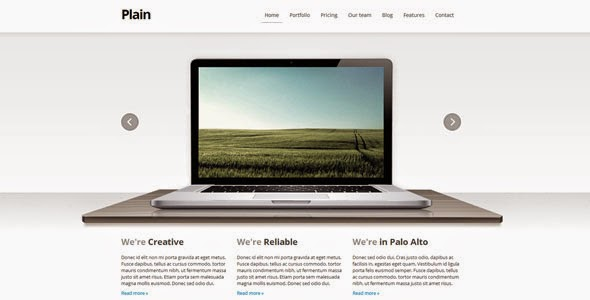 Plain Premium HTML WP Theme