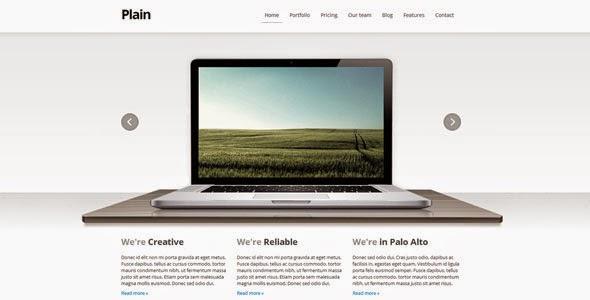 Plain Premium HTML WP Theme