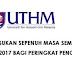 Permohonan UTHM Semester 2 Online Sesi 2016/ 2017