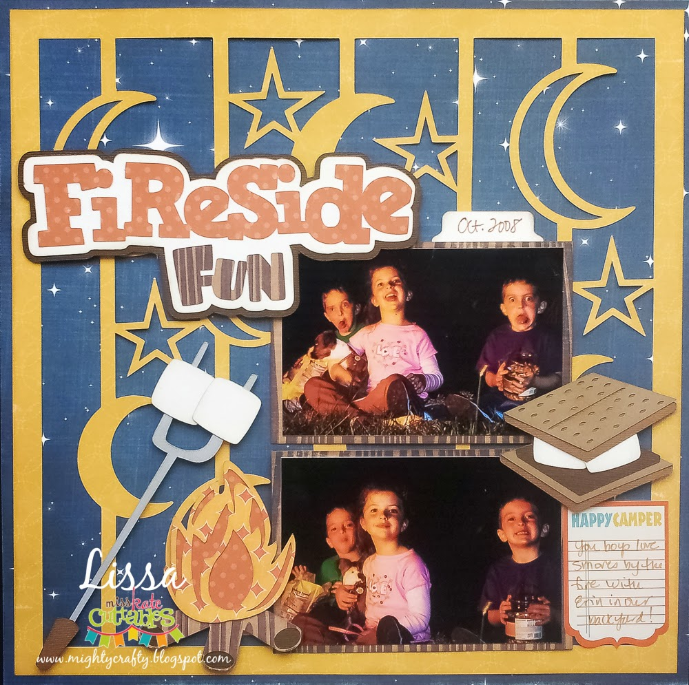 Fireside Fun for Miss Kate Cuttables and Xyron -- www.MightyCrafty.me
