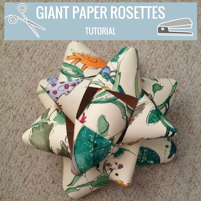 Giant Paper Rosettes Tutorial