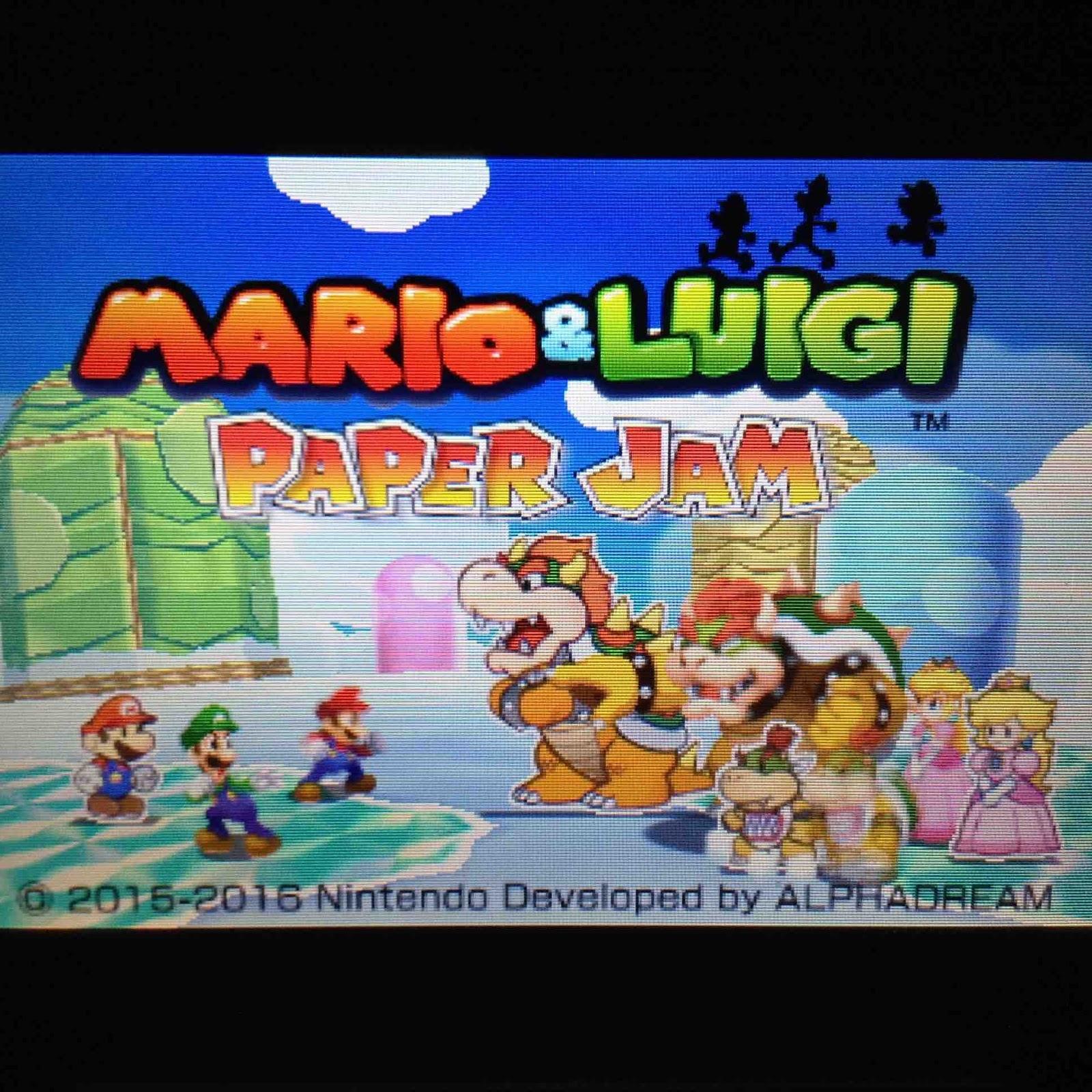 Brain Drain Mario Luigi Paper Jam
