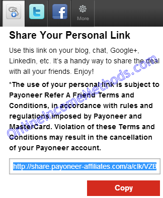 Make Money with Payoneer Affiliate Refer a Friend Program