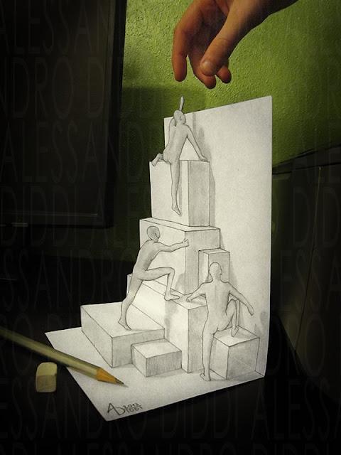 Gambar Ilusi 3D Keren dan Menakjubkan Karya Alessandro
