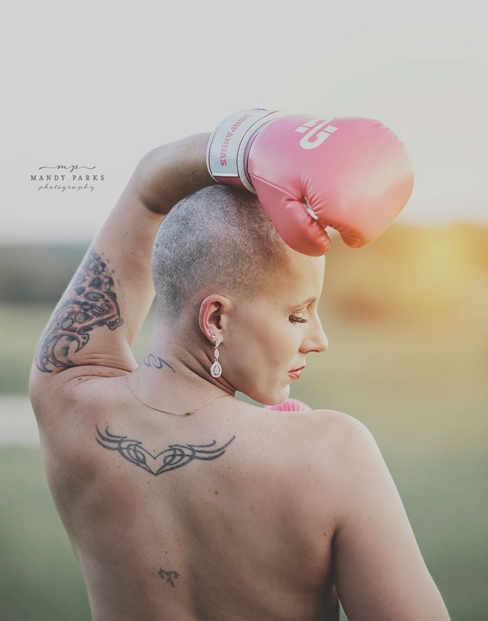 Powerful Photoshoot Of Woman Ready To Battle Breast Cancer While Her Husband Shaves Off Her Hair