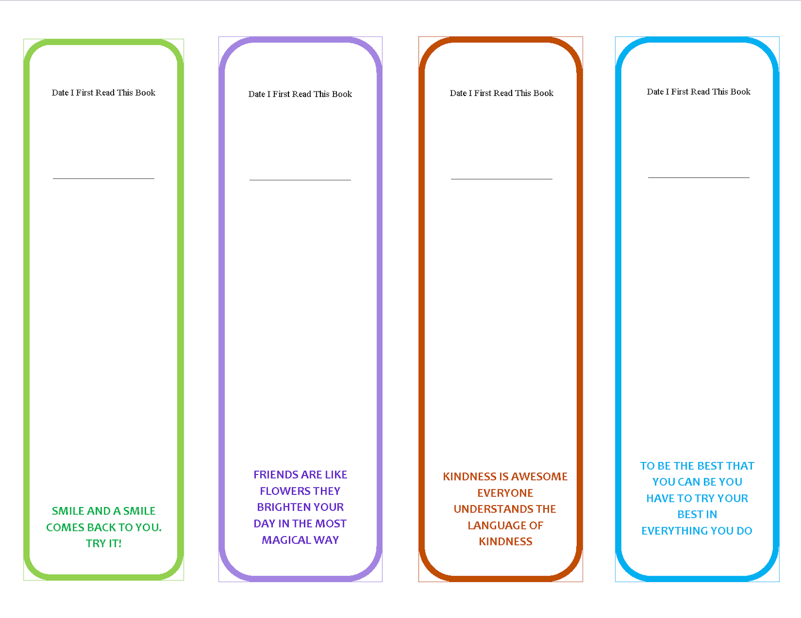 Persnickety image throughout free printable bookmarks templates