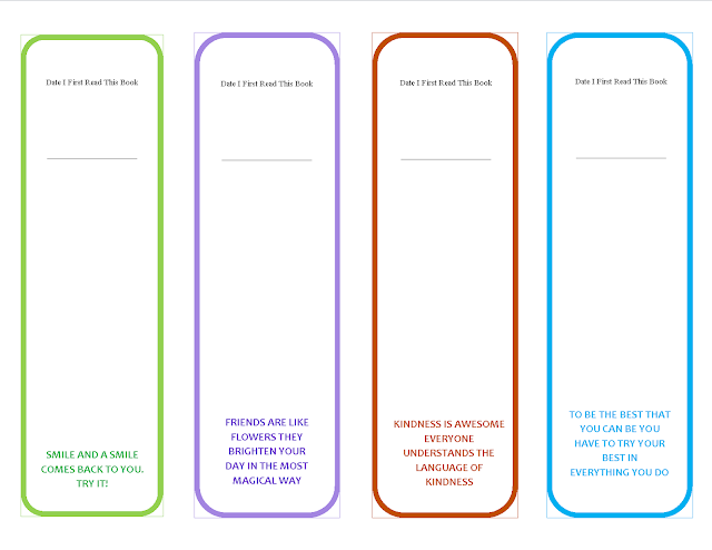 Free Printable Motivational Quotes Bookmark For Kids (Back)