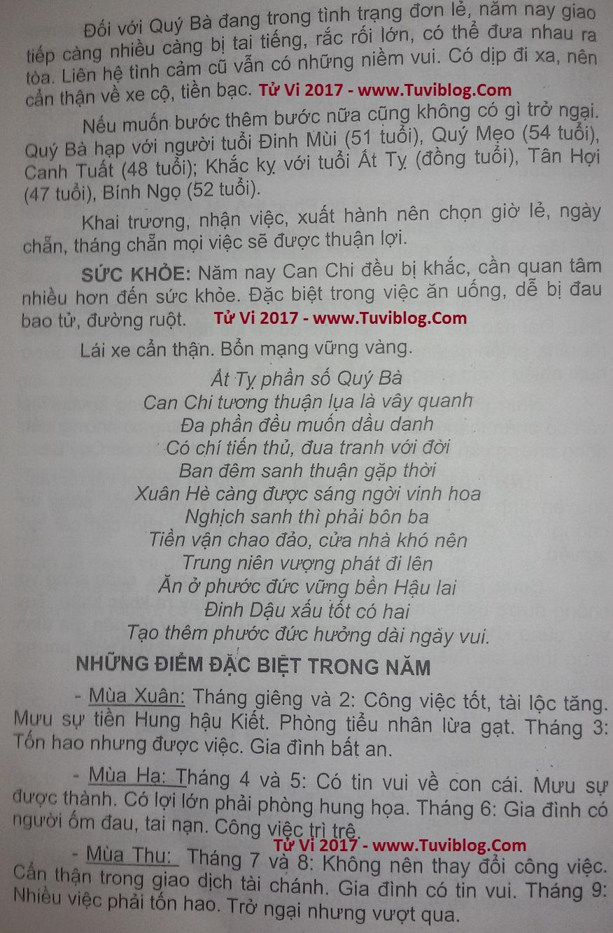 Xem Tu Vi Tuoi At Ty Nam 2017 Nu