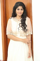 Megha Akash in beautiful Cream Transparent Anarkali Dress at Pre release function of Movie LIE ~ Celebrities Galleries 068.JPG
