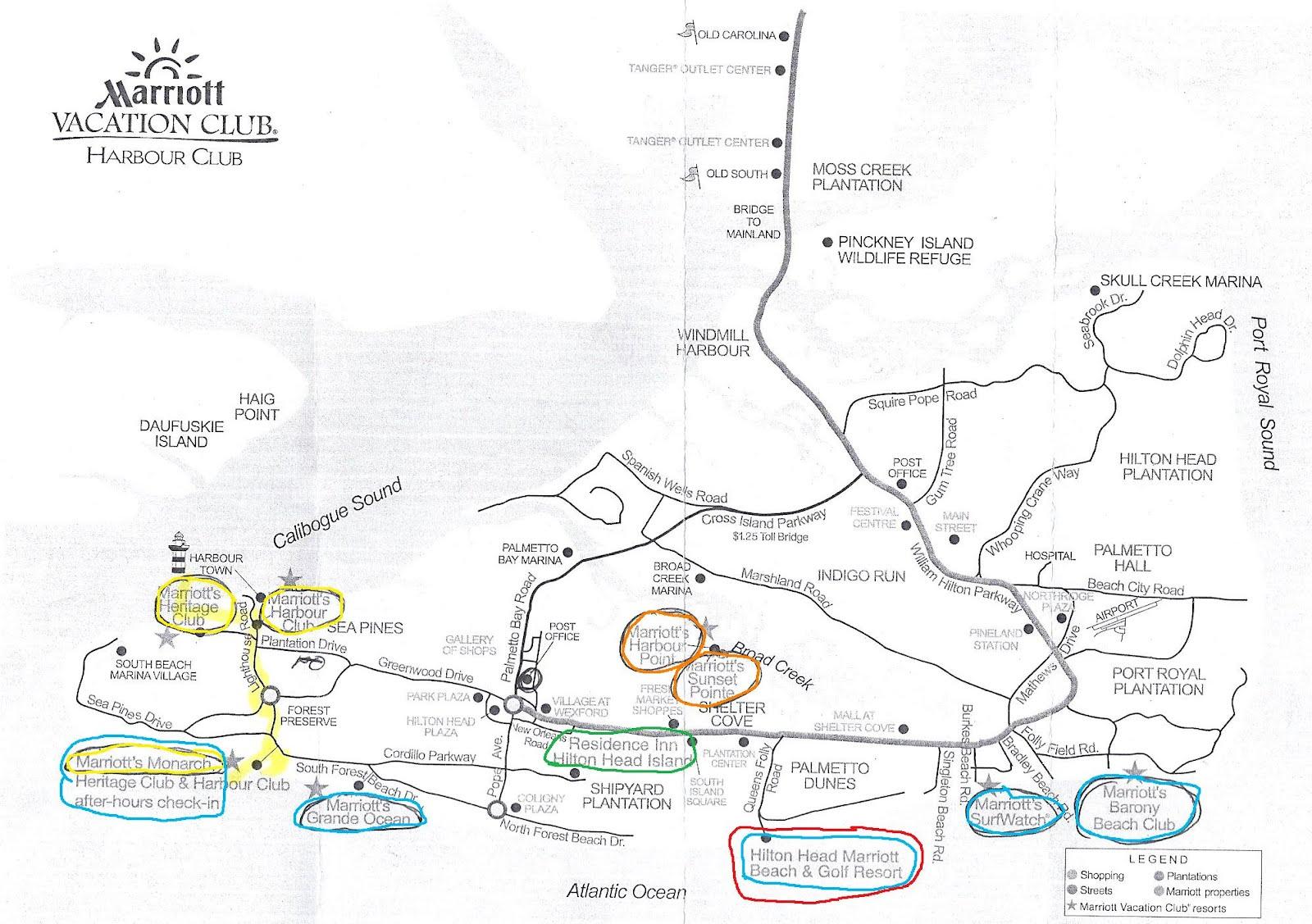 Marriotts In Hilton Head South Carolina - Map of sea pines hilton head island
