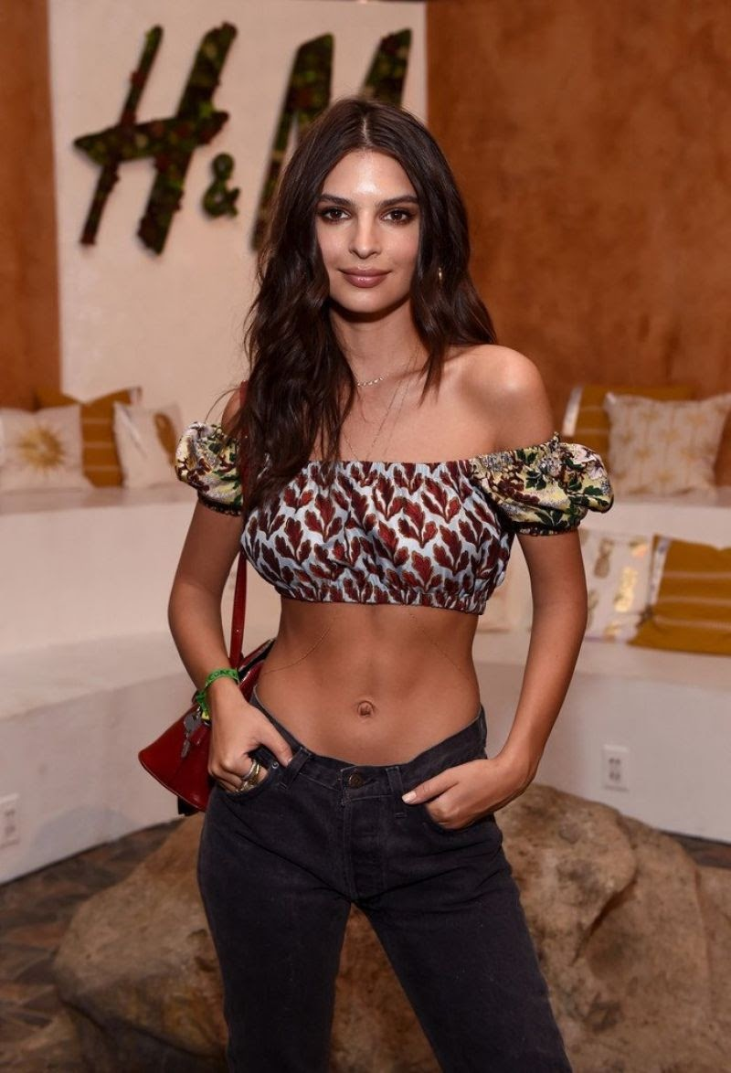Emily Ratajkowski at Coachella Valley Music and Arts Festival