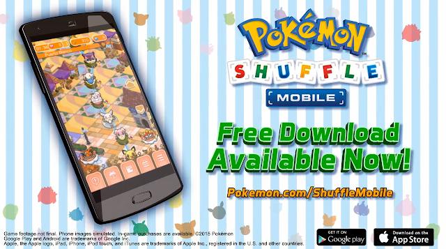Pokémon Shuffle Mobile free download Google Play App Store