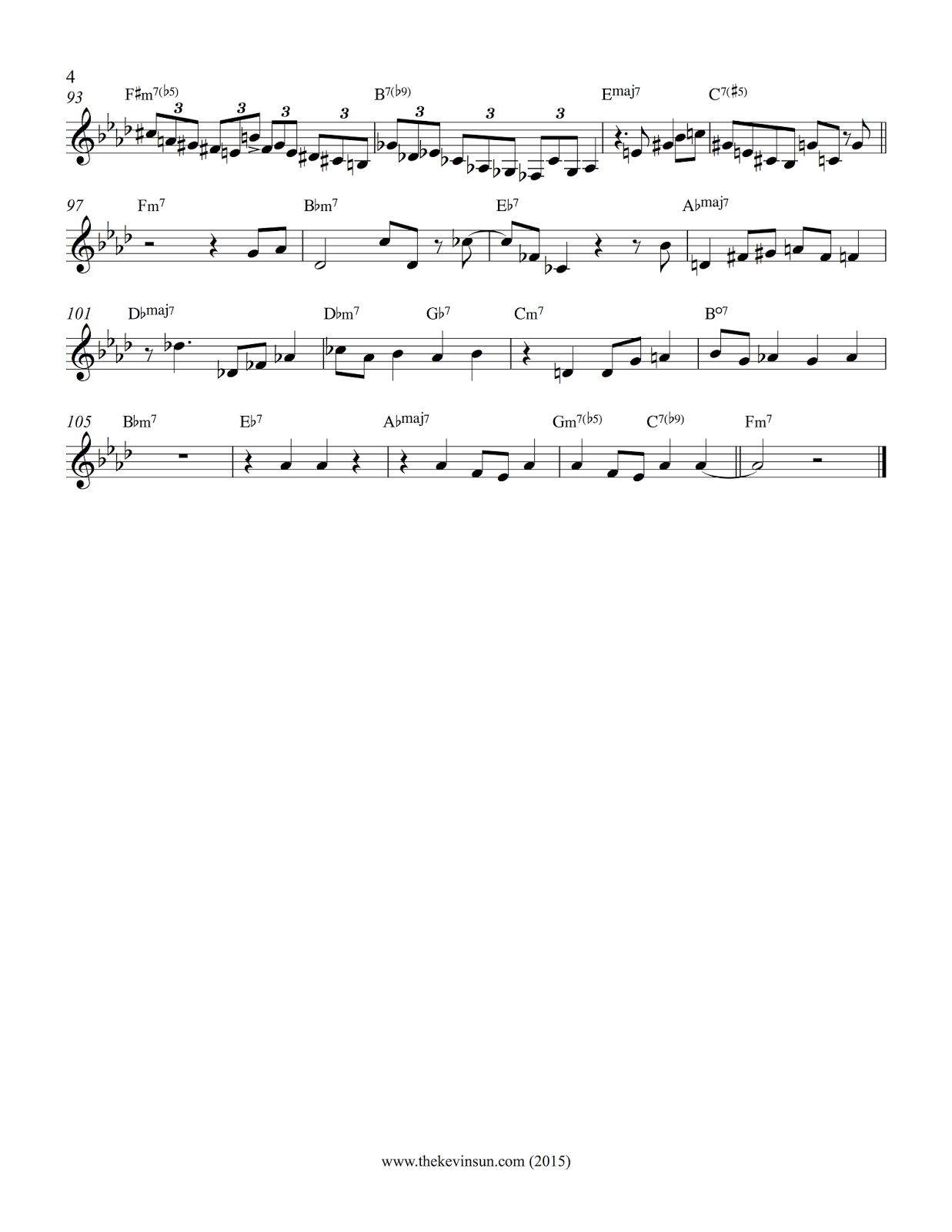 All The Things You Are Paul Bley Solo Page 4