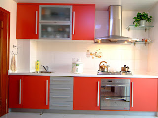 Design-of-Kitchen-Cabinet-Simple-Grey-and-Red