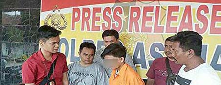 Tersangka pencurian komputer di SDN Kampung Subur dan Mts Muhammadyah 12 Asahan