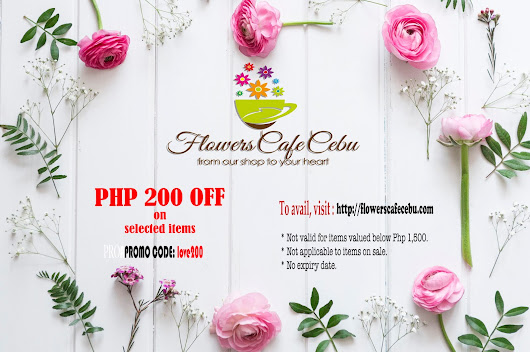Cebu Flower Shop Promo for Mother's Day!