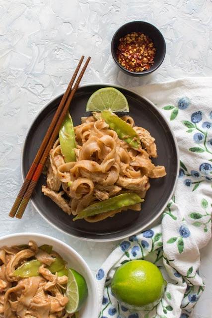 instant pot thai peanut chicken noodles