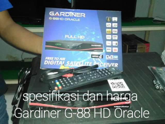 Spesifikasi dan Harga Receiver Gardiner G-88 HD Oracle Terbaru