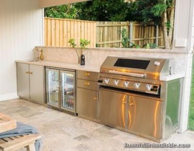 bentuk dapur minimalis terbuka