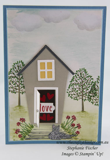 Stampin Up, #thecraftythinker, House Warming Card, Sweet Home Bundle, Stampin Up Australia Demonstrator, Stephanie Fischer, Sydney NSW
