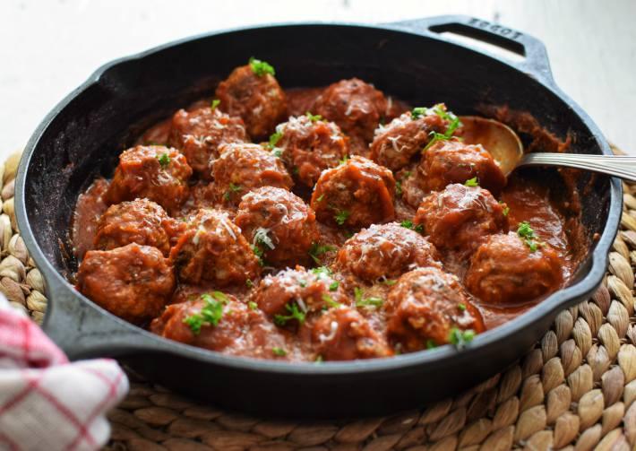 Albóndigas italianas receta