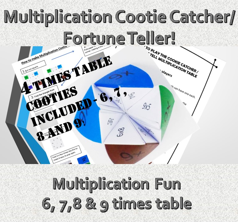 Kids Printable Maths Games for Year 4 Cootie Catcher Fortune Teller ...