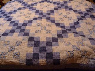 Old blue quilt