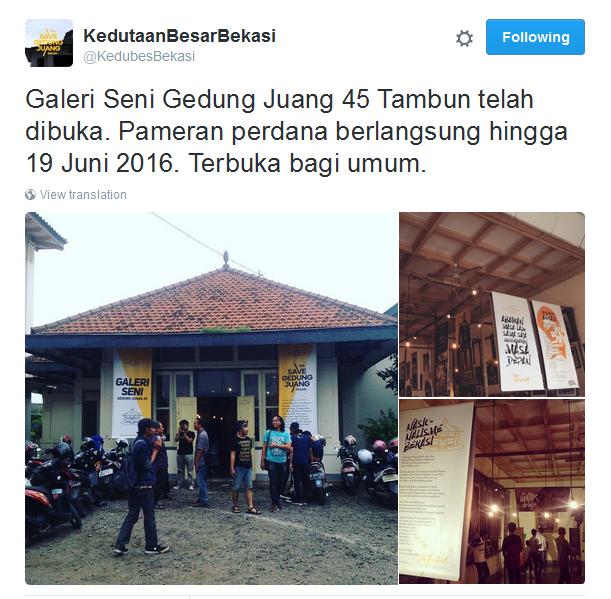 Galeri seni Gedung Juang Tambun Bekasi