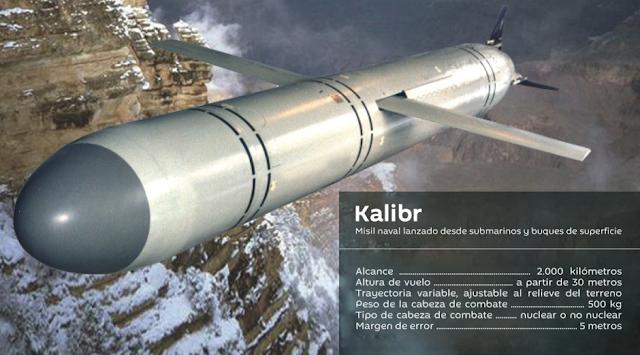 Resultado de imagen para misiles de crucero Kalibr