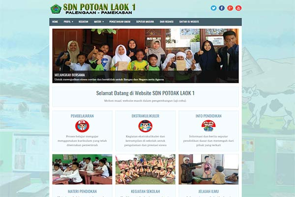 Website Resmi SDN Potoan Laok 1 Palengaan
