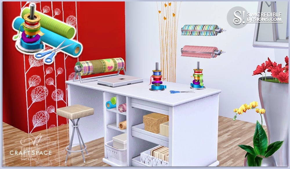 My Sims 3 Blog: Craft Space Set by Simcredible Designs