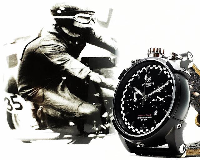 大阪 梅田 ハービスプラザ WATCH 腕時計 ウォッチ ベルト 直営 公式 CT SCUDERIA CTスクーデリア Cafe Racer カフェレーサー Triumph トライアンフ Norton ノートン フェラーリ CHECK FLAG チェックフラッグ CS10135N