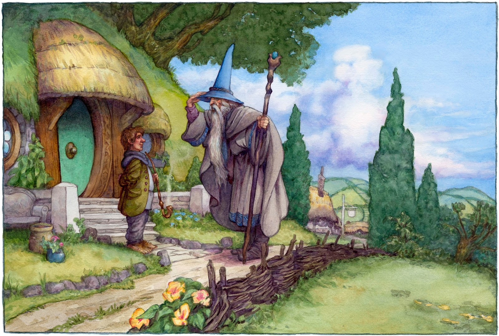 Hobbit gmail theme - David T Wenzel Noted Illustrator Of The Hobbit To Give September Demonstration