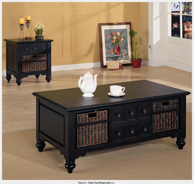 Most Inspiring Black Side Table With Storage 2017