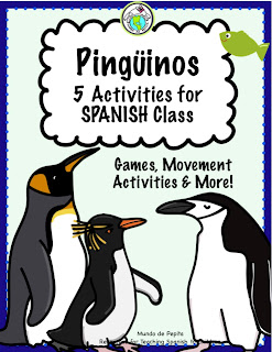 Penguin Activity Pack for Spanish Class