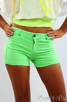 Pantaloni Scurti Dama Fosfo Green