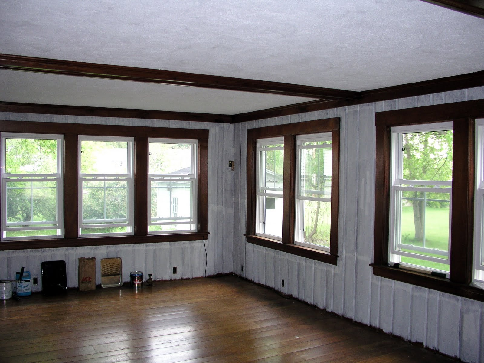 Handy Man Crafty Woman Living Room Painting Wood Paneling Without