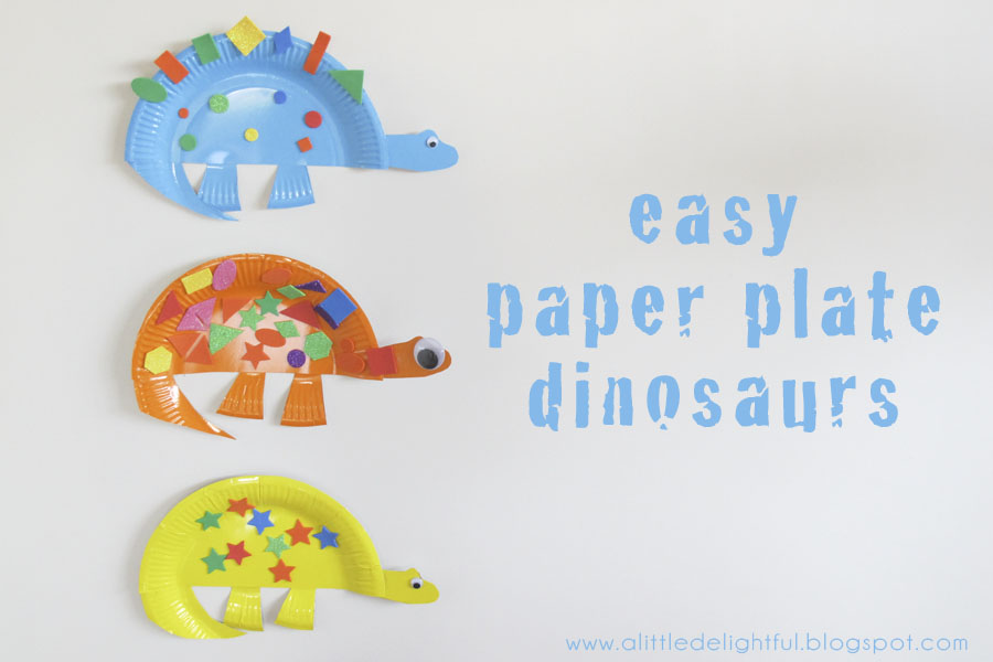 Paper Crafts: Dinosaur Paper Plate Craft
