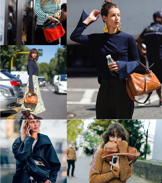 Loewe's Puzzle Bag Streetstyle Bolso Puzzle Loewe collage 1