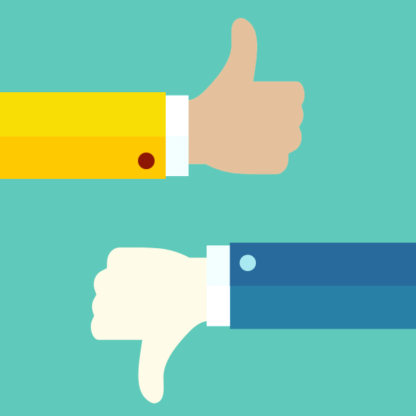 thumbs up, thumbs down: always balance good and bad feedback