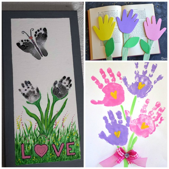 Craft Flowers For Kids Part - 28: Handprint Flower Crafts For Kids- These Are So Cute For Spring U0026 Make Great  Gifts