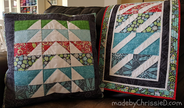 Meadow Dance Pillow Cushion And Table Runner Tutes by www.madebyChrissieD.com