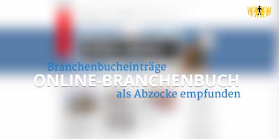 Online-Branchenbuch - Eintrag als Abzocke empfunden