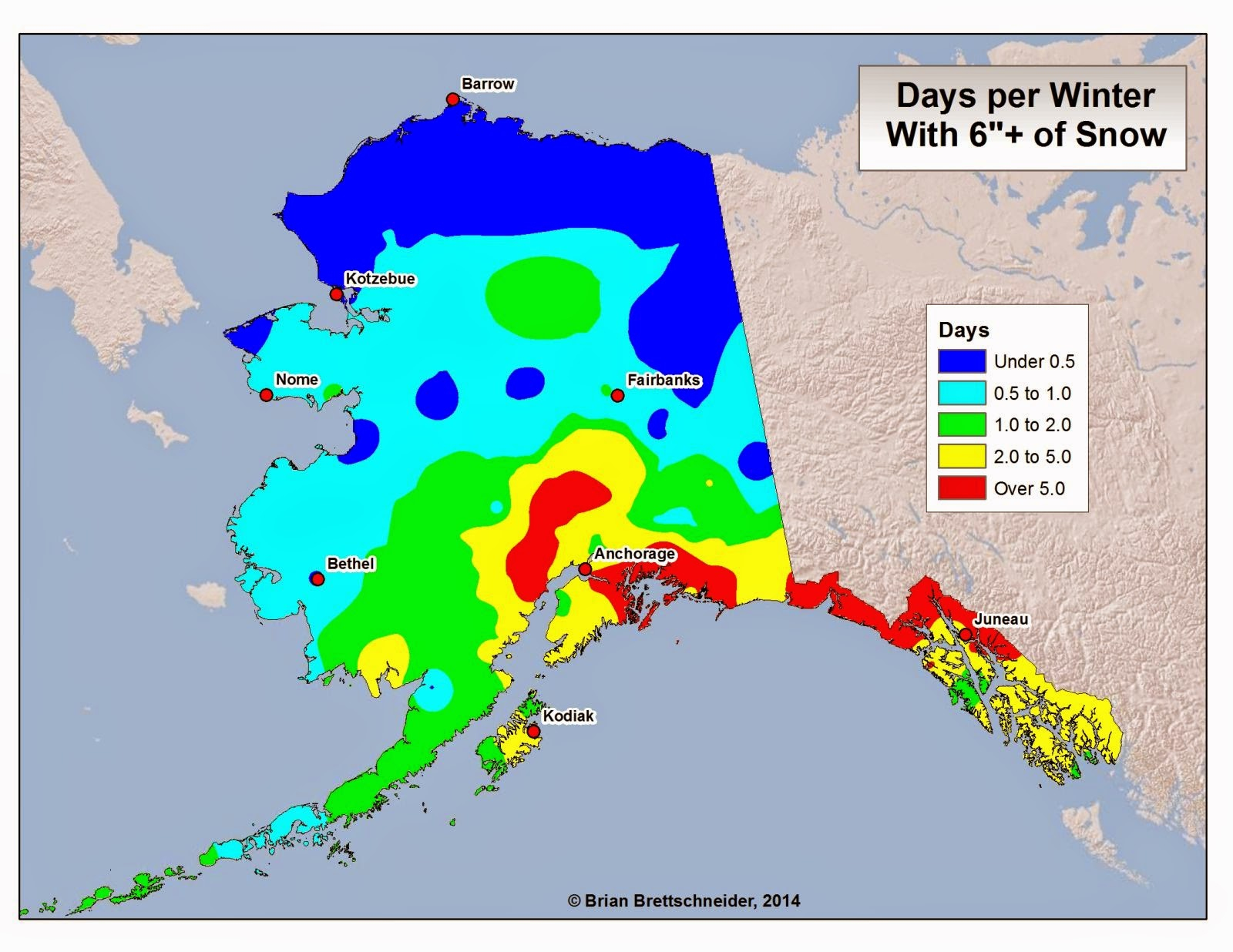 Deep Cold Alaska Weather Climate November 2014