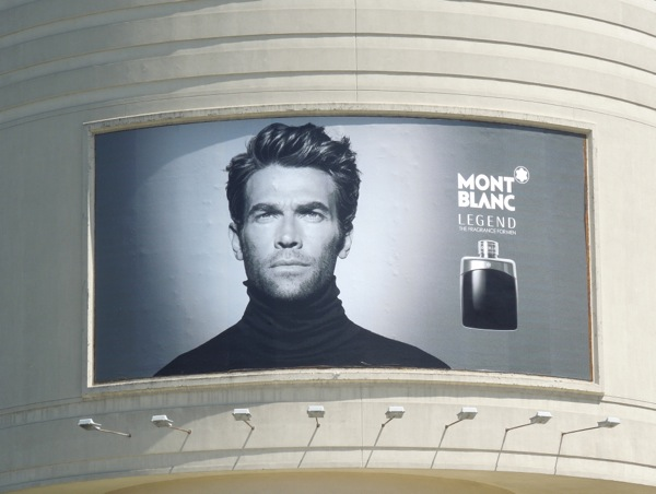 Mont Blanc Legend fragrance billboard