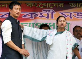 Baichung with CM Mamata banarjee